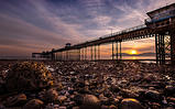 Dawn at Llandudno Pier by Michael Myers