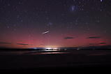 aurora australis with faint beams and a shooting star _1